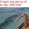 Mẫu báo cáo sự cố tràn dầu trên biển