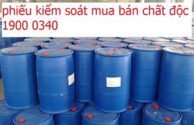 Phiếu kiểm soát mua bán hóa chất độc là gì