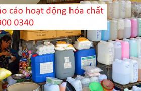 Báo cáo tình hình hoạt động hóa chất hàng năm