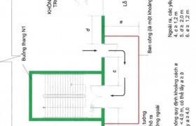 Một số buồng thang bộ không nhiễm khói loại N1