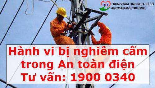 Hành vi bị nghiêm cấm trong An toàn điện