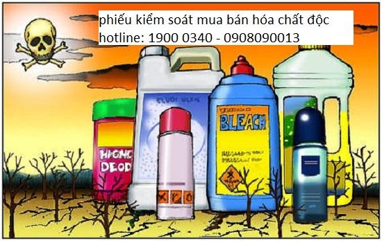 Phiếu kiểm soát mua bán hóa chất độc